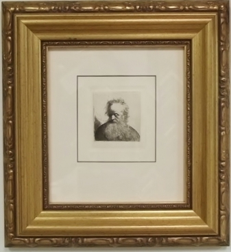 after-Rembrandt etching,19th century French artist, Framed