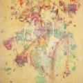 encaustic painting on paper by Don Watson