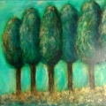 Touch of Gold Trees painting