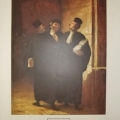Three Lawyers by Daumier: open edition print