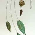 Leaves Mobile Wind Sculpture by Bud Scheffel