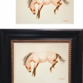 Framed-Horse-Watercolor-Mahmood-Hayat