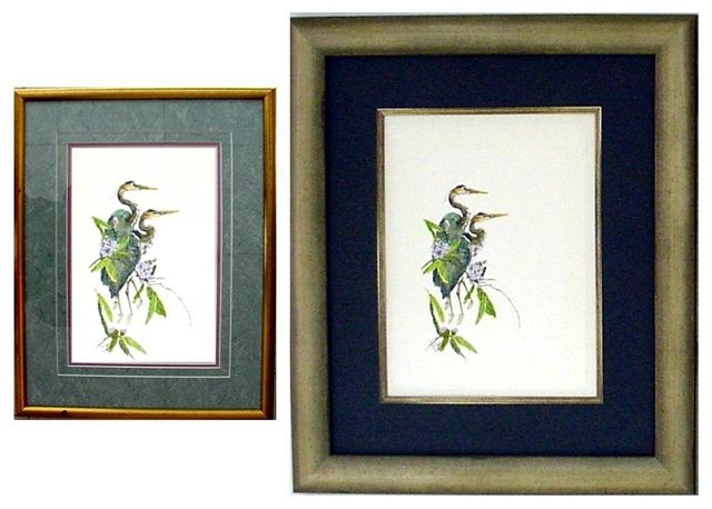 Love the art but not the frame? Before (left) and After