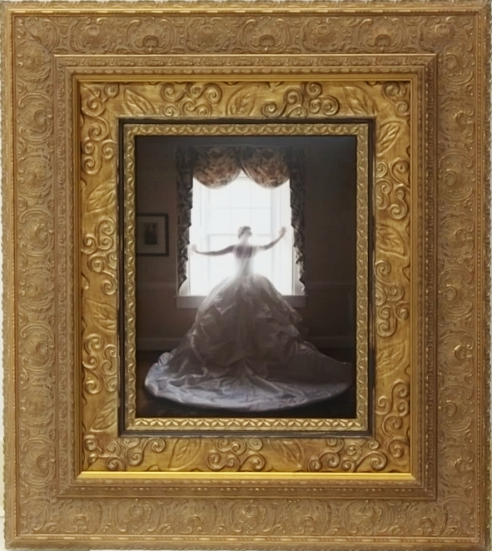 Photo of the bride: triple-framed for mother of the bride