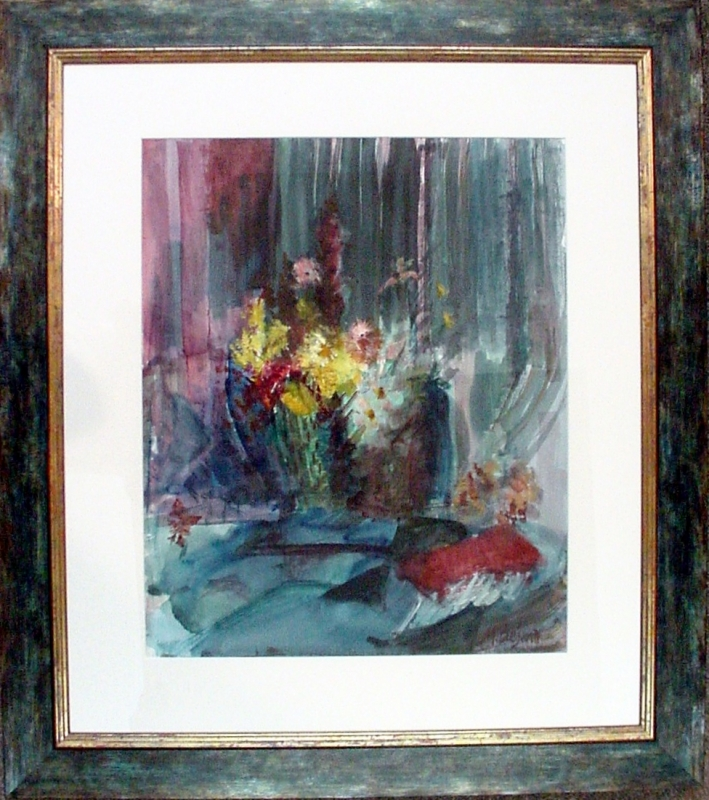 lovely watercolor -with frame to match!