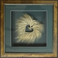 wheat wreath in shadowbox