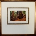 custom framed art print with double mat and wood fillet