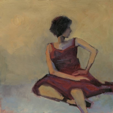 Girl in Red Dress - Kim Coulter