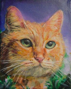 Cat, acrylic on canvas by Wendy Winkler