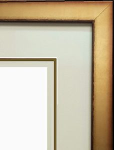 Diploma frame with double mat and filet